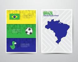 modelo de tamanho a4 de banner de jogos de verão do brasil. ilustração vetorial vetor
