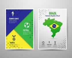 modelo de banner do brasil de jogos de verão. ilustração vetorial vetor