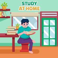 Estudo em casa vetor