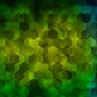 fundo vector verde claro com conjunto de hexágonos.