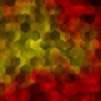 layout de vetor laranja claro com formas hexagonais.