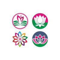 logotipo de flores de lótus vetor