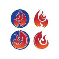 logotipo da chama de fogo vetor