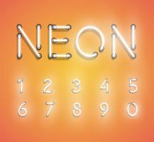 Conjunto de néon realista, ilustração vetorial