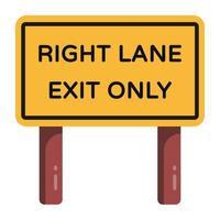 placa guia de estrada vetor