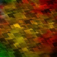 textura leve vetor multicolor com hexágonos coloridos.