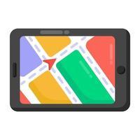 aplicativo de navegação móvel vetor
