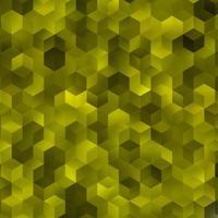 layout de vetor amarelo claro com formas hexagonais.