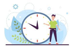 planejamento e conceito de gerenciamento de tempo de trabalho. grande relógio. vetor