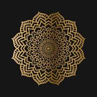 design de fundo padrão de mandala de luxo vetor
