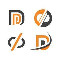ilustração vetorial de logotipo de carta dp vetor