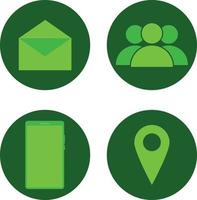 interface de telefone inteligente, localização, pessoas sociais, mensagem, ícones de envelope vetor