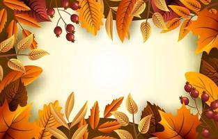 fundo floral de outono vetor