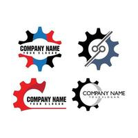modelo de logotipo de engrenagem vetor