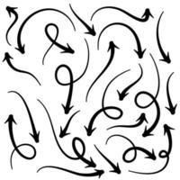 setas de doodle em espiral vetor