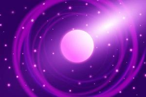 espaço roxo galáxia fundo abstrato estrelas planeta foguete violeta vetor