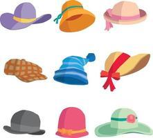 coleção de chapéus vetor