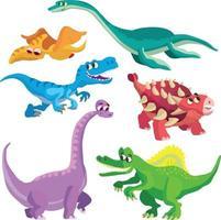coleção de dinossauros vetor