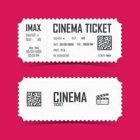 design de elemento de cartão de bilhete de cinema. ilustração vetorial vetor