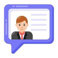 mensagem pessoal e comentários vetor