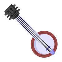 cítara e instrumento de cordas vetor