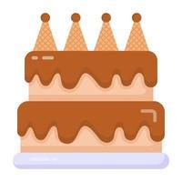 bolo de chocolate e sobremesas vetor