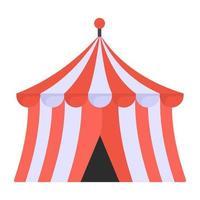 circo e acampamento vetor