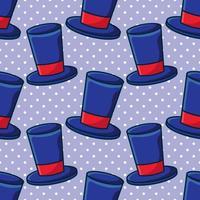 ilustração de padrão sem emenda de chapéu mágico vetor