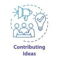 ícone de conceito de contribuição vetor