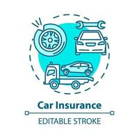 ícone de conceito de seguro de carro vetor