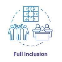 ícone do conceito de inclusão total vetor