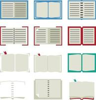 conjunto de ícones de livro vetor