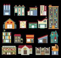 ícones de construção isolados no fundo branco vetor