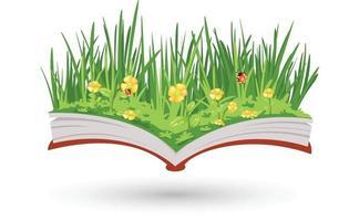o livro de flores vetor