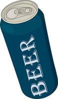 lata de cerveja com inscrição mock up vetor
