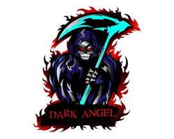 ilustração do mascote do anjo da morte vetor