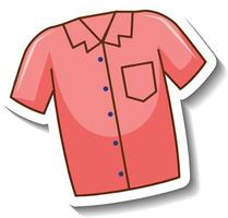 um modelo de adesivo com a frente da camisa rosa isolada vetor