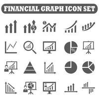 ícones do mercado financeiro vetor