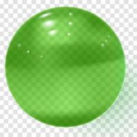 esfera de vidro transparente verde esfera de ouro transparente verde vetor