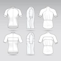 conceito de roupa esportiva de malha de bicicleta vetor
