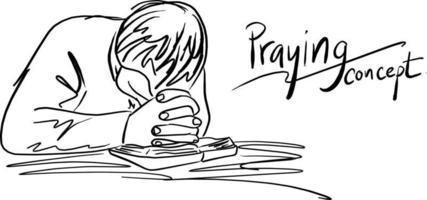 oração a Deus com fé e esperança no vetor da Bíblia