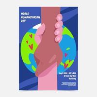 pôster do dia humanitário vetor