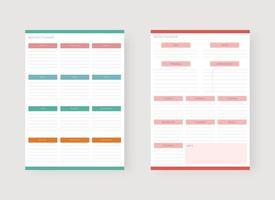 modelo de planejador mensal e semanal. vetor