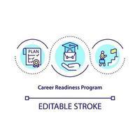 ícone do conceito do programa de preparação para a carreira vetor