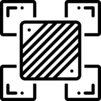 ícone de linha para variação vetor