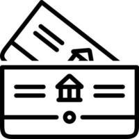 ícone de linha para caderneta vetor
