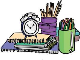 itens para alunos usando no vetor escolar