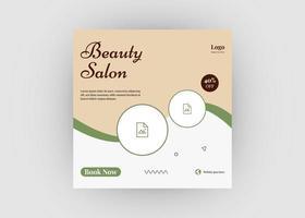 design de postagem de mídia social de salão de beleza cuidados de beleza vetor