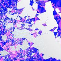 Projeto de conexão poligonal colorido com, ilustração vetorial de baixo poli