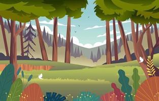 cenário de floresta profunda vetor